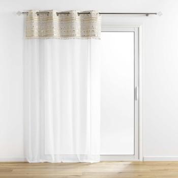 Home Sheer curtains Douceur d intérieur SUNDORE Sable