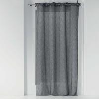 Home Sheer curtains Douceur d intérieur CHARLOTTE Anthracite