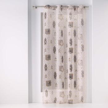 Home Sheer curtains Douceur d intérieur JANGAL Sable