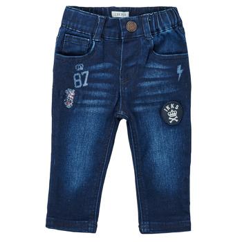 material Boy straight jeans Ikks ACIER Blue / Dark