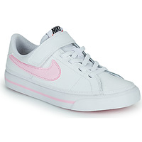 Shoes Children Low top trainers Nike NIKE COURT LEGACY (PSV) White / Pink