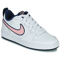 Shoes Children Low top trainers Nike COURT BOROUGH LOW 2 SE1 (GS) White / Pink