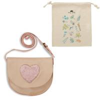 Bags Children Shoulder bags Easy Peasy HANDIDOO COEUR FOURRURE Beige