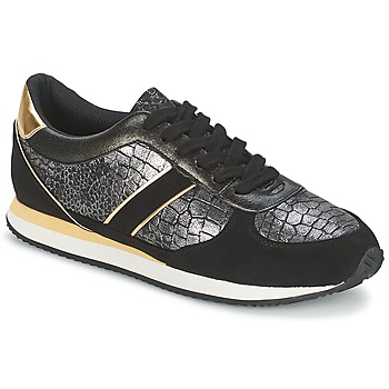 Shoes Women Low top trainers Balsamik LILA Black / Gold