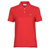 material Women short-sleeved polo shirts Lacoste POLO REGULAR FIT PF7839 Red