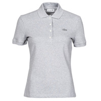 material Women short-sleeved polo shirts Lacoste POLO SLIM FIT PF5462 Grey