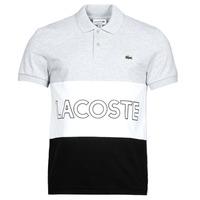 material Men short-sleeved polo shirts Lacoste YH7648 Grey / White / Black