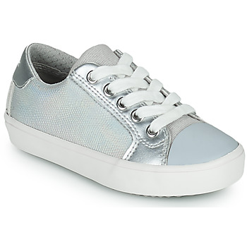 Shoes Girl Low top trainers Geox J GISLI GIRL Silver