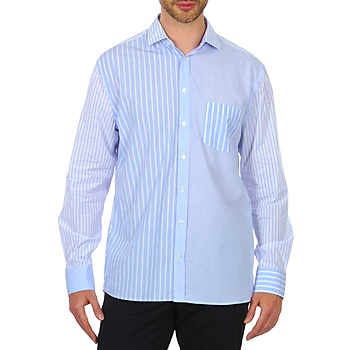material Men long-sleeved shirts Gant DASHERS POPLIN SPREAD Blue