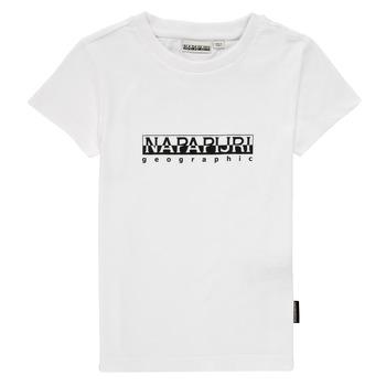 material Boy short-sleeved t-shirts Napapijri S-BOX SS White