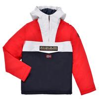 material Boy Parkas Napapijri RAINFOREST POCKET Blue / White / Red
