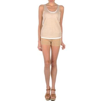 material Women Shorts / Bermudas Majestic SOLENE Beige