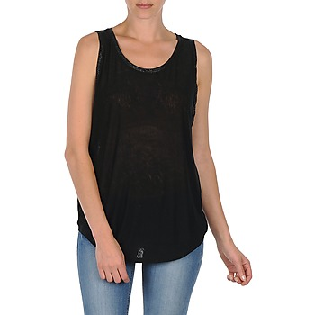 material Women Tops / Sleeveless T-shirts Majestic MANON Black
