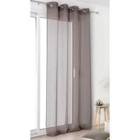 Home Sheer curtains Linder VOILE DE LIN Grey