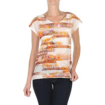 material Women short-sleeved t-shirts TBS JINTEE White