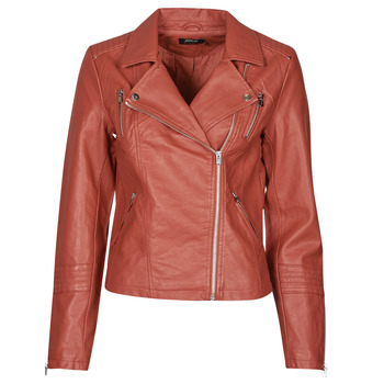 material Women Leather jackets / Imitation le Only ONLGEMMA Red