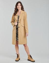 material Women coats Only ONLLOUIE Camel