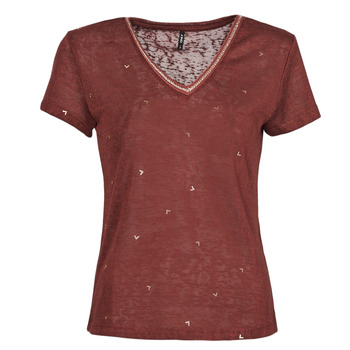 material Women short-sleeved t-shirts Only ONLSTEPHANIA Bordeaux