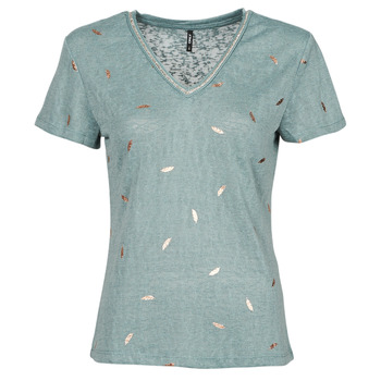 material Women short-sleeved t-shirts Only ONLSTEPHANIA Blue