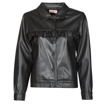material Women Leather jackets / Imitation le Moony Mood PABLIS Black