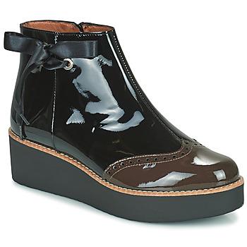 Shoes Women Mid boots Fericelli JANDICI Black / Brown