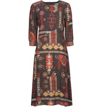 material Women Long Dresses Desigual ALBURQUERQUE Multicolour