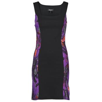 material Women Short Dresses Desigual BATON ROUGE Multicolour