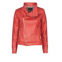 material Women Leather jackets / Imitation le Desigual MARBLE Red