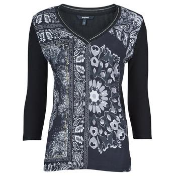 material Women short-sleeved t-shirts Desigual VARSOVIA Multicolour