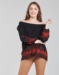 material Women Blouses Desigual EIRE Black / Red