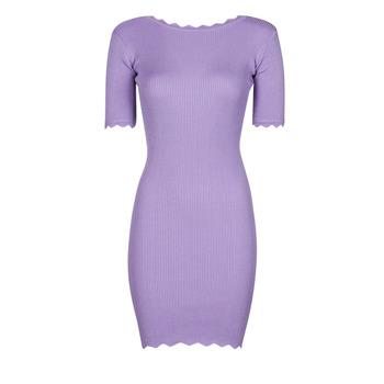 material Women Short Dresses Yurban PAULINO Lilac