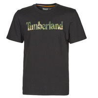 material Men short-sleeved t-shirts Timberland SS FT LINEAR TEE Black