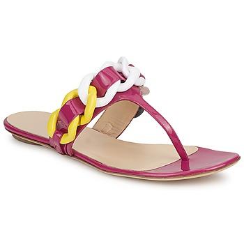 Shoes Women Flip flops Versus by Versace FSD364C Pink / White / Yellow