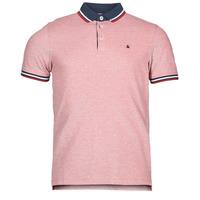 material Men short-sleeved polo shirts Jack & Jones JJEPAULOS Red