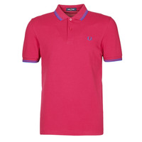 material Men short-sleeved polo shirts Fred Perry TWIN TIPPED FRED PERRY SHIRT Red