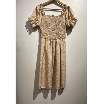 material Women Short Dresses Fashion brands 53176-BEIGE Beige