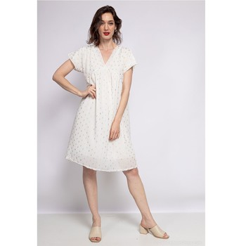 material Women Short Dresses Fashion brands BY80-BLANC White