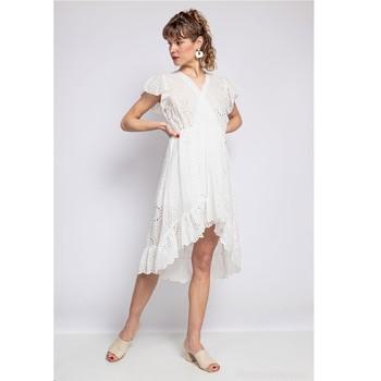 material Women Short Dresses Fashion brands U5233-BLANC White