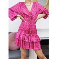 material Women Short Dresses Fashion brands 22974-FUSHIA Fuschia