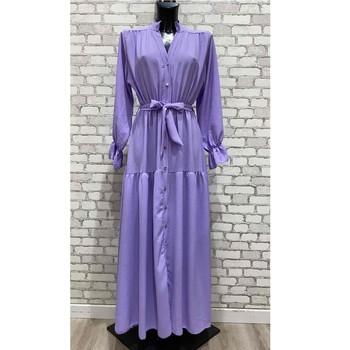 material Women Long Dresses Fashion brands 2155-LILAS Lilac