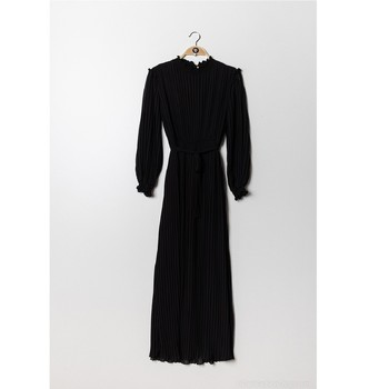 material Women Short Dresses Fashion brands 9805-NOIR Black