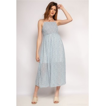material Women Short Dresses Fashion brands 571-BLEU-CLAIR Blue / Clear