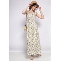 material Women Short Dresses Fashion brands R182-BEIGE Beige