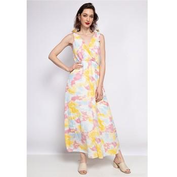 material Women Long Dresses Fashion brands R185-JAUNE Yellow