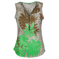material Women Blouses Fashion brands 183-07-LIME-GREEN Multicolour