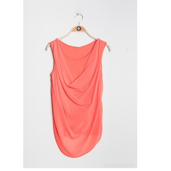 material Women Blouses Fashion brands D425-CORAL Coral