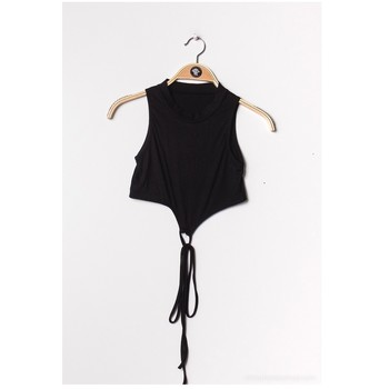 material Women Blouses Fashion brands FR070-BLACK Black