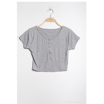 material Women Blouses Fashion brands FR060C-GRAY Grey