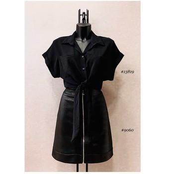 material Women Blouses Fashion brands ERMD-13819-N-BLACK Black