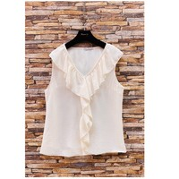 material Women Blouses Fashion brands ERMD-13797-CP-BLANC White